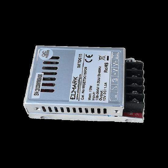 SETDC15 TÁPEGYSÉG LEDHEZ 15W 230AC/12VDC IP20