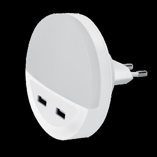 LED NIGHT LAMP WITH 2*USB 0.5W 3000K