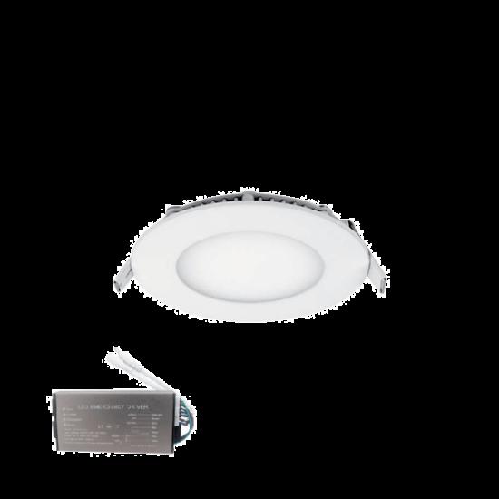 STELLAR LED PANEL KÖR 6W 6500К D120mm+INVERTERREL