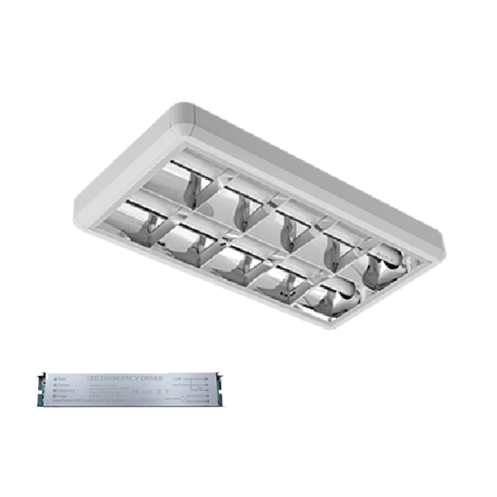 LENA-V LED 600mm 2X9W 6400K OM 630X330mm