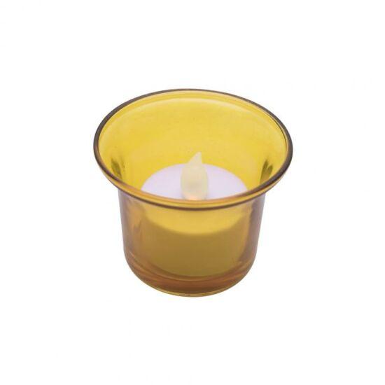LED-es teamécses, sárga tartóval