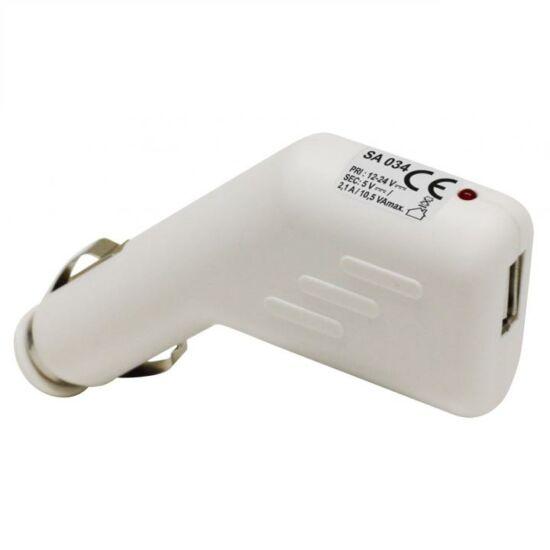 Autós USB adapter, 2.1A