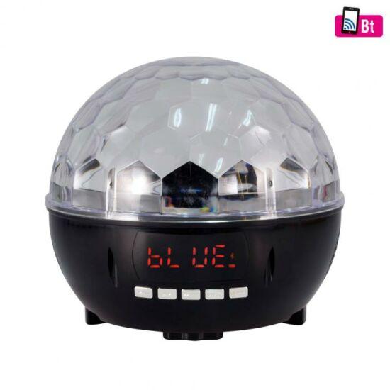Diszkó lámpa, zenelejátszó, rádió, Bluetooth, 6xLED