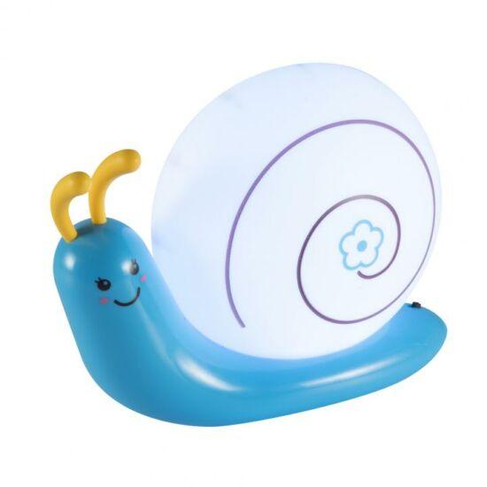 Csiga hangulatvilágítás, kék, tölthető, 4SMD