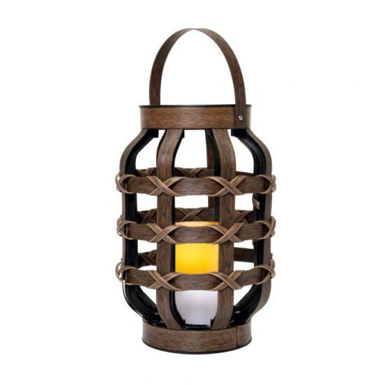 Lámpás LED gyertyával