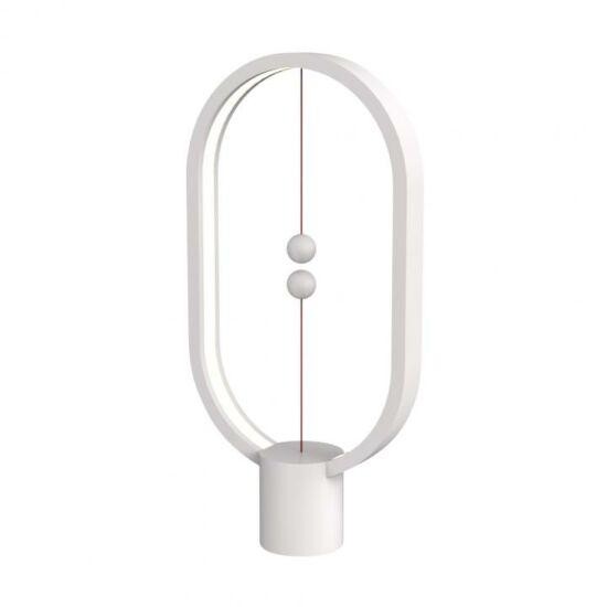 Golyós LED asztali lámpa, fehér