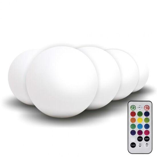 5db LED gömb hangulatvilágítás, átm:8cm, IP68