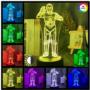 Kép 1/2 - 3D HATÁSÚ ÉJSZAKAI TÖBBSZÍNŰ LED LÁMPA STAR WARS CP3 ROBOT