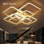 Kép 1/3 - NEO Gleam 100W LED csillár 90x70x15 cm fekete