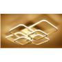 Kép 1/3 - LED csillár 80W 70x58 cm Kávé