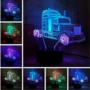 Kép 1/2 - 3D HATÁSÚ ÉJSZAKAI TÖBBSZÍNŰ LED LÁMPA Transformers Optimus