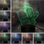 Kép 1/2 - 3D HATÁSÚ ÉJSZAKAI TÖBBSZÍNŰ LED LÁMPA PÓKEMBER